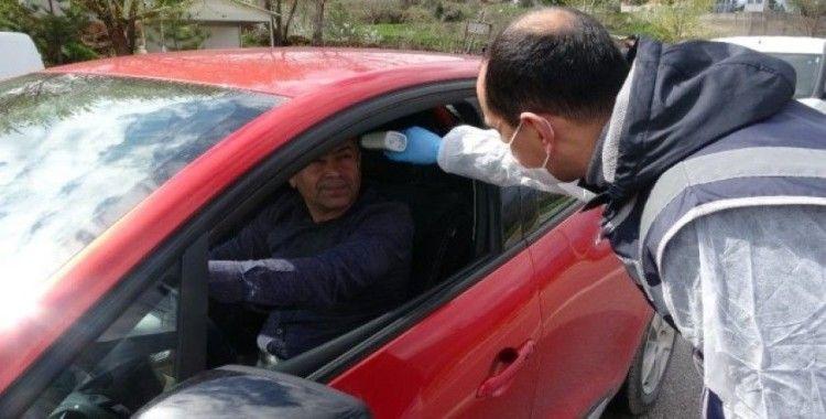 Tokat'ta şehirlerarası yollarda korana virüs önlemi