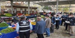 Haliliye'de semt pazarlarında salgına karşı önlem alınıyor