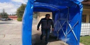 Ispartalı girişimci korona virüse karşı dezenfekte tüneli üretti