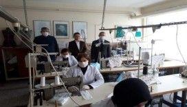 Liseli öğrencilerden maske üretimi