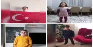 """Tatvan'daki öğrencilerden """"Evde Kal Türkiyem"""" mesajı"""