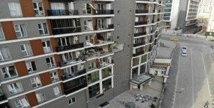 Esenyurt'ta doğalgaz patlamasının yaşandığı bina havadan görüntülendi