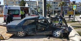 Samsun'da iki otomobil çarpıştı: 1 yaralı
