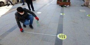 Banka önlerindeki sosyal mesafe ihlaline polis müdahalesi