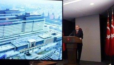 Cumhurbaşkanı Erdoğan, Başakşehir Şehir Hastanesi açılışına video konferans ile katıldı