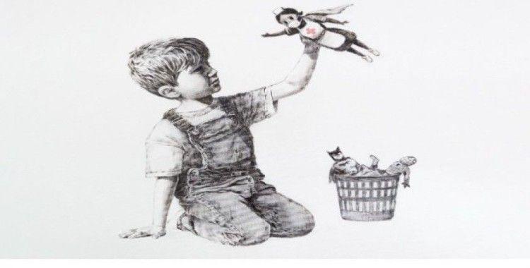 Banksy'den hemşireler için 'süper kahraman' eseri