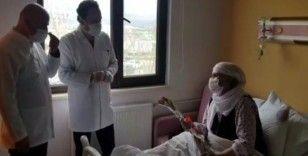 Van'da korona vüris tedavisi alan anneye moral