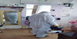 Tuşba Belediyesi berber ve kuaför salonlarını dezenfekte etti