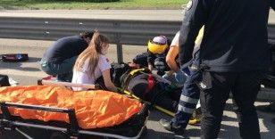 FSM Köprüsü girişinde kaza: 1 ağır yaralı