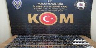 Malatya'da gümrük kaçağı cep telefonu ele geçirildi