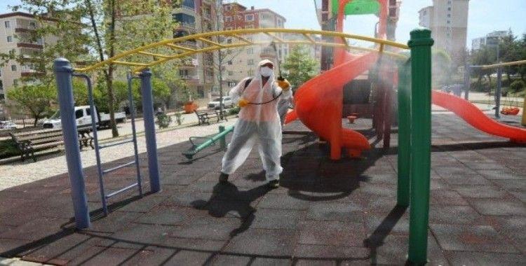 Sokağa çıkacak çocuklar için Atakum parklarında hijyen önlemi