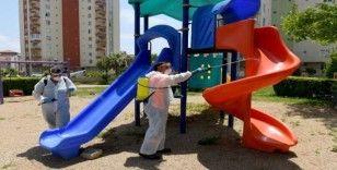 Çocuk oyun grupları dezenfekte edildi