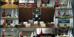 Aile, Çalışma ve Sosyal Hizmetler Bakanı Selçuk SGK il müdürleriyle görüştü