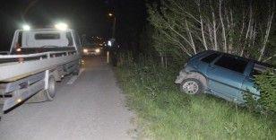 Afyonkarahisar'da sokağa çıkma kısıtlamasına uymayan 80 yaşındaki adam kaza yaptı
