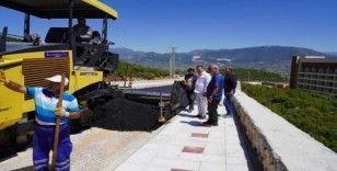 Milas'ın yeni hastane yolunda sıcak asfalt çalışmaları tamamlandı