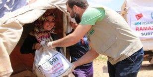 İHH'dan Afrin'de 3 bin 500 aileye gıda kolisi yardımı
