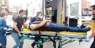 Motosikletten düşen sürücü yaralandı