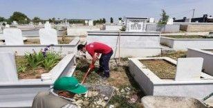 İlimtepe Mezarlığı düzenleniyor