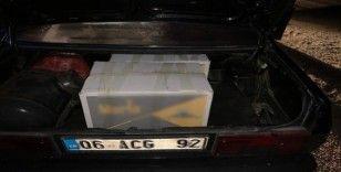 Lisanssız ve faturasız kıyılmış tütün ticareti yapan iki kişi yakalandı