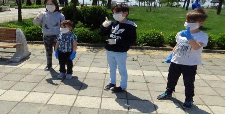 Uzun zaman sonra dışarı çıkan çocuklar Şelale Eğitim Parkında doyasıya eğlendi