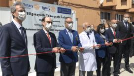 Cerrahpaşa Tıp Fakültesi'nde sahra tipi bilgisayarlı tomografi ünitesi açıldı