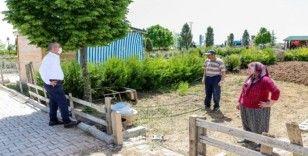 Meram hobi bahçelerinde ekim zamanı