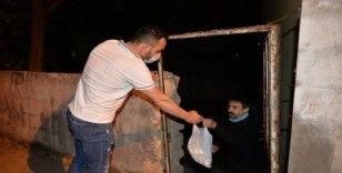 Kurbanlık danayı kesip 150 aileye dağıttı