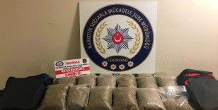 İstanbul'dan getirdiği 13 kilogram bonzai ele geçirildi