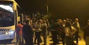 Karantinadan çıkan 79 kişi memleketleri Hatay'a geldi