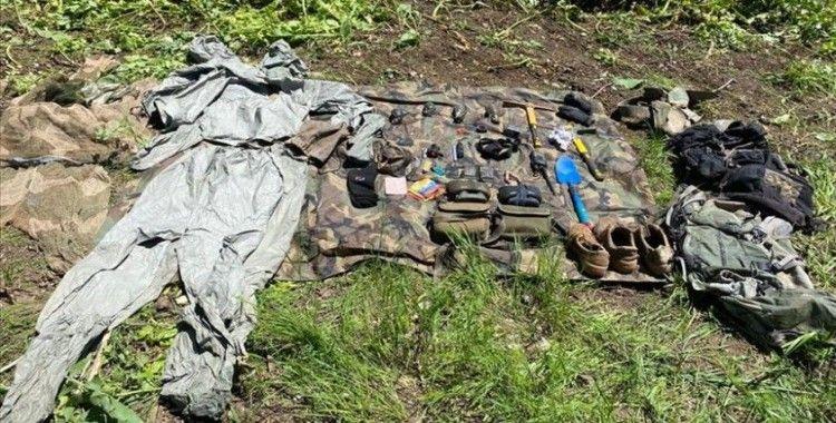 Irak'ın kuzeyinde PKK'ya ait mühimmat ve malzeme ele geçirildi