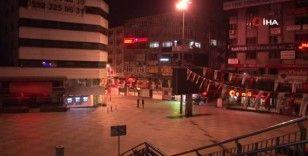 4 günlük  kısıtlamanın başlamasıyla Şirinevler Meydan'ı boş kaldı