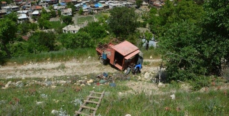 Karaman'da çapa motoru uçuruma yuvarlandı: 1 ölü