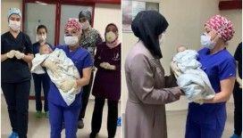 Kütahya'da Kovid-19'u yenen 5 aylık bebek taburcu edildi