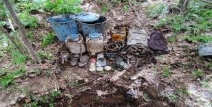 Bitlis'te terör örgütünce araziye gizlenmiş malzeme ele geçirildi