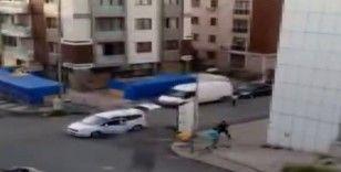 Maltepe'de fırıncılara silahlı saldırı kamerada