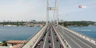 İstanbul polisinin 19 Mayıs korteji, drone ile havadan görüntülendi
