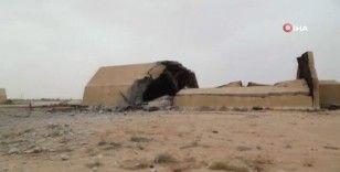 Libya'da UMH güçlerinin ele geçirdiği Vatiyye Askeri Hava Üssü görüntülendi