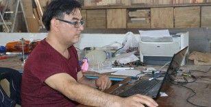 3 ay sabahlara kadar çalışarak taşınabilir solunum cihazı üretti
