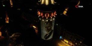 Galata Kulesi'nde görsel şölen