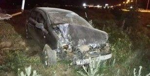 Sahur vakti meydana gelen kazada polis memuru yaralandı