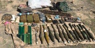 Ağrı Dağı'nda PKK'lı teröristlere ait silah ve mühimmat ele geçirildi