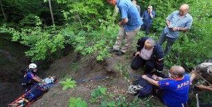 Samsun'da AFAD ekipleri uçuruma yuvarlanan alzaymır hastasını kurtardı