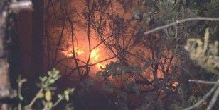 Aydos Ormanı'nda havai fişek nedeniyle yangın çıktı
