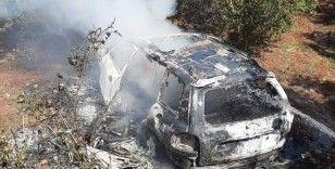 Afrin'de bir sivilin aracı havadan vuruldu: 2 ölü