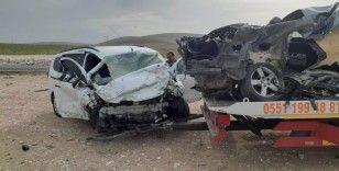 Konya'da iki otomobil çarpıştı: 2 yaralı