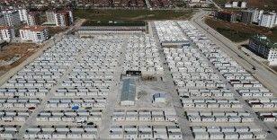 Depremzede bin 640 aile konteyner kentlere yerleşti