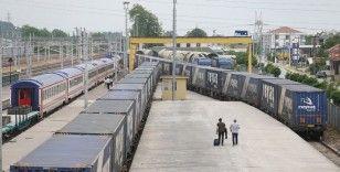 Marmaray geçişli ilk ihracat blok treni Sakarya'dan yola çıkıyor