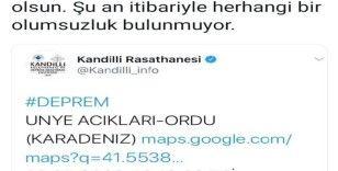 Vali Yavuz'dan deprem açıklaması
