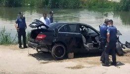 Mersin'de otomobil dereye yuvarlandı