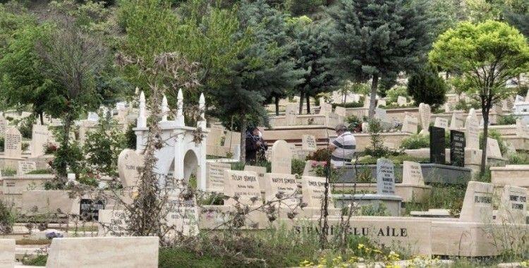Covid-19 ve fırtına uyarısı mezarlık ziyaretlerini azalttı